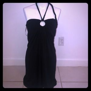BCBG black halter dress NWT